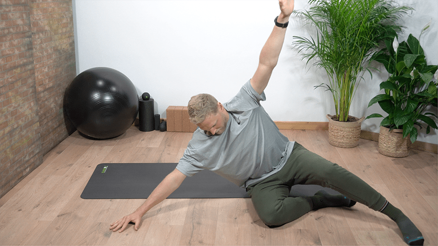 zijlig - zijzit - lage rugpijn oefening - beweegzorg online