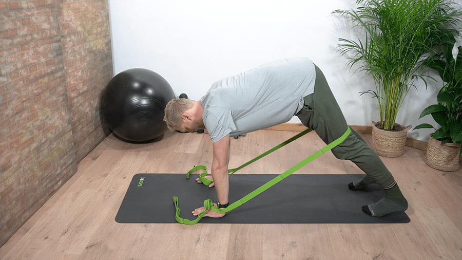 beer met weerstand - lage rugpijn oefening - beweegzorg online